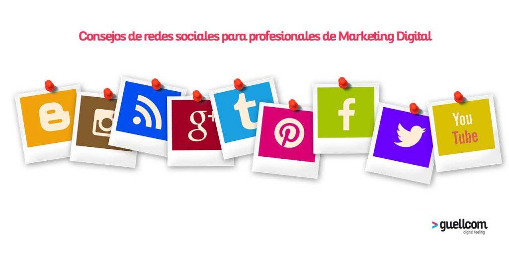 Consejos de redes sociales para profesionales de Marketing Digital